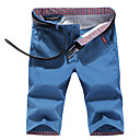 cheap Cycling Pants, Shorts, Tights-Men's Plus Size Cotton Slim Shorts Chinos Pants - Solid Colored