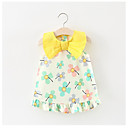 cheap Baby Girls' Clothing Sets-Baby Floral Sleeveless Cotton / Polyester Dress