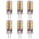 preiswerte LED Doppelsteckerlichter-2w g4 led bi-pin birne 24 smd 2835 dc 12 v für ceilling licht / rv / wohnwagen warm / kalt weiß (6 stücke)
