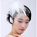 cheap Party Headpieces-Tulle Headpiece / Hair Clip with Feather / Floral 1pc Wedding / Party / Evening Headpiece