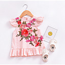 cheap Baby Girls' Clothing Sets-baby girl's daily floral dress, polyester summer cute sleeveless blushing pink 80 110 100 90