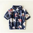 povoljno Majice za dječake-Dijete koje je tek prohodalo Dječaci Osnovni Dnevno / Praznik Cvjetni print Kratkih rukava Regularna Pamuk Majica s kratkim rukavima Navy Plava 100