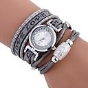 hesapli Bileklik Saatler-Kadın's Bilek Saati Çince Gündelik Saatler / imitasyon Pırlanta PU Bant Günlük / Moda Siyah / Beyaz / Mavi / Bir yıl