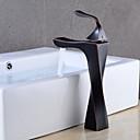 baratos Torneiras de Banheiro-Torneira pia do banheiro - Separada Bronze Polido a Óleo Conjunto Central Monocomando e Uma Abertura