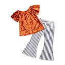 tanie Zestawy ubrań dla chłopców-Brzdąc Dla dziewczynek Aktywny Impreza Jendolity kolor / Prążki Nadruk Krótki rękaw Bawełna Komplet odzieży / Urocza