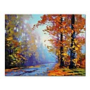 cheap Oil Paintings-STYLEDECOR Modern Hand Painted Abstract the Path Oil Painting on Canvas for Living Room