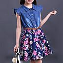 preiswerte Kleider für Mädchen-Mädchen Blumig / Gerüscht Druck Ärmellos Kleid