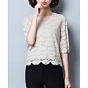 cheap Totes-Women's Basic Blouse - Solid Colored / Lace