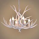 cheap Chandeliers-6-Light Pendant Light Uplight Painted Finishes Resin Mini Style 110-120V / 220-240V Bulb Not Included / FCC