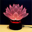 billige Blodtrykk-3D nattlys Endring Usb Stress og angst relief / Fargeskiftende / Kreativ 5 V 3D
