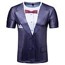 זול סניקרס לגברים-גיאומטרי בסיסי טישרט - בגדי ריקוד גברים דפוס