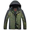 cheap Softshell, Fleece & Hiking Jackets-Men's Hiking Jacket outdoor Autumn / Fall Winter Windproof Rain-Proof Breathability Hiking Jackets Camping & Hiking Apparel & Accessories Activewear Polyester Winter Jacket Top Waterproof Full Length