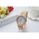 abordables Monederos-Mujer Reloj Pulsera Japonés La imitación de diamante Acero Inoxidable Banda Encanto Plata / Dorado / Oro Rosa / Un año