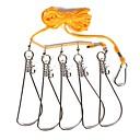 preiswerte Haken-Fischen-Werkzeuge Angel-Zubehör Leichte Bedienung Verschleißfest geflochtenen Seil Rostfrei Plástico PE Seefischerei Fliegenfischen
