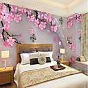 baratos Murais de Parede-Personalizado pintados à mão pêssego 3d grande parede cobrindo mural papel de parede adequado para escritório quarto restaurante flor