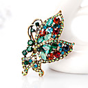 cheap Pins and Brooches-Women's Brooches - Butterfly, Animal European, Fashion Brooch Dark Green For Daily / Office & Career