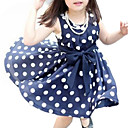 cheap Girls' Dresses-Toddler Girls' Polka Dot Sleeveless Dress / Sweet