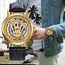 Недорогие Армейские часы-Муж. Жен. Нарядные часы Часы со скелетом Наручные часы Японский Кварцевый Кожа Черный / Коричневый Секундомер С гравировкой Творчество Аналоговый Роскошь Классика -  / Один год / SSUO LR626