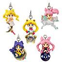 billige Anime actionfigurer-Anime Action Figurer Inspirert av Sailor Moon Cosplay PVC CM Modell Leker Dukke Herre Dame