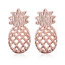 ieftine Cercei la Modă-Pentru femei Cercei Stud - Ananas Simplu Argintiu / Roz auriu Pentru Zilnic Stradă