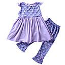 tanie Topy dla niemowląt-Dziecko Dla dziewczynek Geometryczny Z baskinką Bez rękawów Komplet odzieży / Urocza / Brzdąc