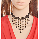 cheap Jewelry Sets-Choker Necklace - Drop Vintage Black 38 cm Necklace For Evening Party, Club