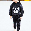 cheap Necklaces-Girls' Animal Print Clothing Set, Cotton Polyester Winter Fall Long Sleeves Black Gray