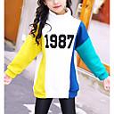 tanie Sukienki dla dziewczynek-Dzieci Dla dziewczynek Aktywny Nadruk Długi rękaw Długie Bawełna Bluzka Biały 140