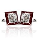 preiswerte Hochzeitsgeschenke-Geometrische Form Silber Manschettenknöpfe Aleación Europäisch / Modisch Herrn Modeschmuck Für Hochzeit / Formal
