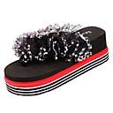 ieftine Flip-Flops de Damă-Pentru femei Pantofi Cauciuc Vară Confortabili Sandale Creepers Negru / Galben / Fucsia