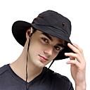 ieftine Clothing Accessories-VEPEAL Καπέλο πεζοπορίας Căciulă Soare Pălării Rezistent la Vânt Ușor Uscare Rapidă Primăvară Vară Negru Unisex Pescuit Drumeție Alpinism Plasă / Rezistent la UV