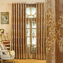 cheap Ceiling Lights-Sheer Curtains Shades Living Room Floral Cotton / Polyester Embroidery