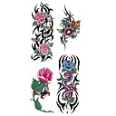 cheap Temporary Tattoos-Waterproof / Tattoo Sticker Body / Arm / Shoulder Temporary Tattoos 1 pcs Flower Series Body Arts