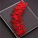 tanie Imprezowe nakrycia głowy-Stop Stroik z Kryształki / Satynowy kwiatek 1 szt. Ślub / Specjalne okazje Winieta