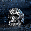 cheap Men's Rings-Men's Ring - Stainless Steel, Titanium Steel Skull Rock, Fashion 7 / 8 / 9 / 10 / 11 Silver For Halloween Daily Casual