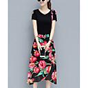 cheap Ombre Hair Weaves-Women's Polo - Floral Skirt / Summer