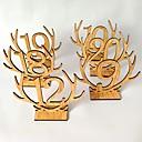 olcso Asztal dekorációk-Fa Táblázat Center Pieces - Nem személyre szabott Ültetőkártya tartók Kárpitok 20pcs Minden évszak
