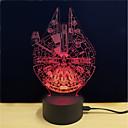 abordables Lumières de Décoration-1 set LED Night Light / Veilleuse 3D Changer DC alimenté / USB Couleurs changeantes / Créatif / Décoration 5 V