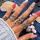 cheap Bracelets-Ring Set - Alloy Leaf, Flower Basic, Fashion 7 Silver For Daily / Date
