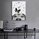 "cheap DIY Wall Clocks-Wall Clock,Modern Style Modern Contemporary Canvas Cuboid Indoor 16"" x 24"" (40cm x 60cm) 11"" x 16""(28cm x 40cm) 14"" x 20""(35cm x 50cm)"