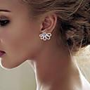 זול עגילים אופנתיים-בגדי ריקוד נשים עגילים צמודים עגילים מעוצבים מלפנים ומאחור - פרחוניים / בוטניים, פרח פשוט, קלסי זהב / כסף עבור מתנה יומי רחוב