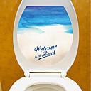levne Samolepky na zeď-Lepicí obraz na stěnu Ozdobné samolepky na zeď Samolepky na toaletu - Samolepky na stěnu Krajina 3D Nastavitelná poloha Snímatelné