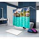 halpa Suihkuverhot-Suihkuverhot ja koukut Nykyaikainen Vapaa-aika Polyesteri Moderni Uutuudet Tehty koneellisesti Vedenkestävä Kylpyhuone