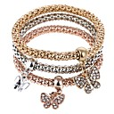 cheap Necklaces-Women's Charm Bracelet Strand Bracelet - Butterfly Sweet Bracelet Rainbow For Party Gift / 3pcs