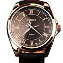 baratos Aço Inoxidável-Homens Relógio Militar Japanês Noctilucente / Relógio Casual Couro Legitimo Banda Fashion Preta / Marrom