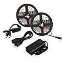 رخيصةأون إكسسوارات LED-ZDM® 2x5M مجموعات ضوء 2*300 المصابيح 5050 SMD 1 12V 6A محول / 1 × باهتة التبديل أبيض دافئ / أبيض كول قابل للقص / اللصق التلقي 12 V 1SET