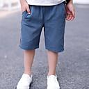 tanie Spodnie dla chłopców-Brzdąc Dla chłopców Aktywny Jendolity kolor / Prążki Nadruk Len Szorty