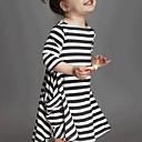 זול שמלות לבנות-השמלה מפוספסת היומי של הנערה, אביב באביב נופל שרוולים ארוכים ברחוב שיק לבן