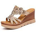 olcso Női szandálok-Női Wedge Heels Csillogó flitter Nyár Kényelmes Szandálok Tipegők Arany