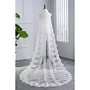 cheap Wedding Flowers-One-tier Vintage Style Wedding Veil Chapel Veils 53 Embroidery Tulle